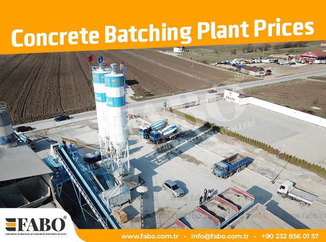 Concrete Batching Plant Prices