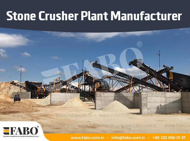 Stone Crushing Plant Manufacturer