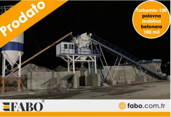 Turbomix-100 polovna mobilna betonara 100 m3