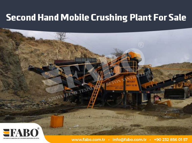 Second Hand Mobile Crushing Plant For Sale