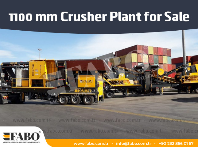 1100 mm Crusher Plant for Sale